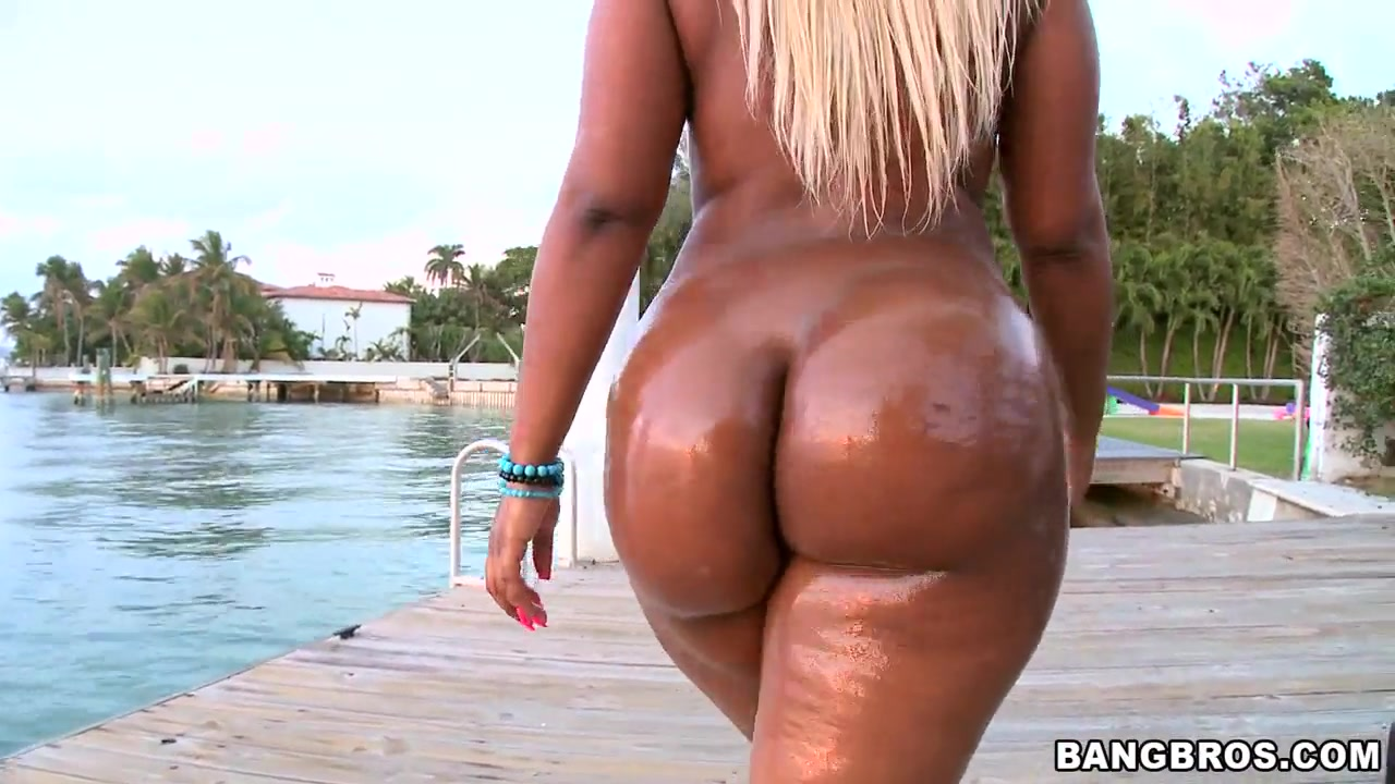 Down, one big booty oiled ass want